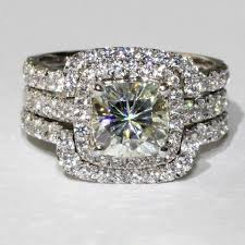 all wedding rings images 4ct total 3 band set nscd sona simulated solitaire diamond rin jpg