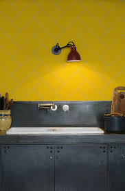 Yellow Kitchen Walls by Kitchen Walls Herringbone Tile Wallpaper Yellow Kitchens