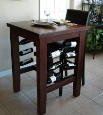 pub table with wine rack handmade brinkman pub table with wine storage by north texas wood