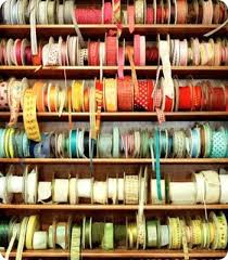 spools of ribbon ribbon spools getty images craft room diy wrapping