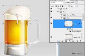 tutorial illustrator glass cold beer glass illustration foam texture and dewy glass effect