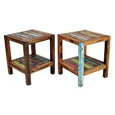 reclaimed wood end table reclaimed wood end tables barn with decor 13 funect host