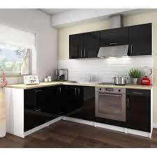 cosy cuisine cosy cuisine complète 2m80 laqué noir achat vente cuisine