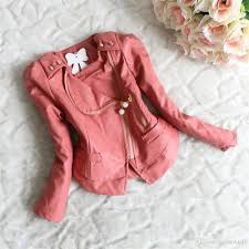 Inexpensive Children S Clothing New Spring Autumn Girls Jacket Children Clothing Pu Leather Long
