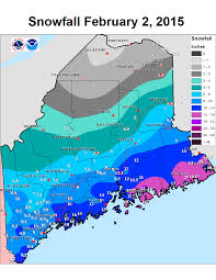 Snow Forecast Map Record Setting Snowy 7 To 10 Days For Downeast Maine