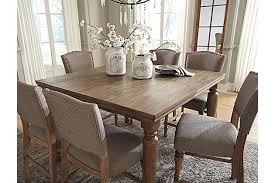 Grayish Brown Tanshire Counter Height Dining Room Table View - Dining room tables counter height