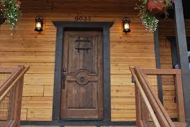 Exterior Doors Wooden Exterior Door Blanks Non Warping Patented Honeycomb Panels And