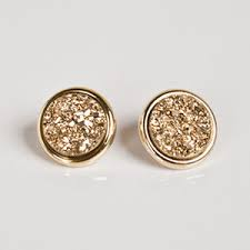 druzy stud earrings marcia gold druzy stud earrings polyvore