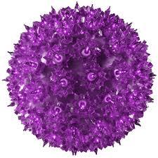 50 purple bulbs light sphere 6 in