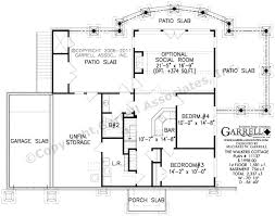 cottage plan walkers house country farmhouse southern basement