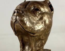 american pitbull terrier figurines pit bull statue etsy