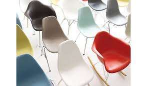eames molded plastic 4 leg side chair