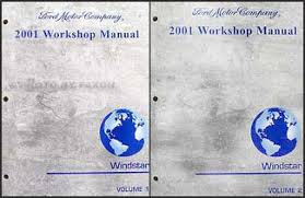 2001 ford windstar repair shop manual 2 volume set original