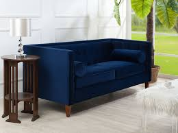 Sectional Or Sofa And Loveseat Jennifer Taylor Jack Tuxedo Sofa Couch Navy Blue For Living Room