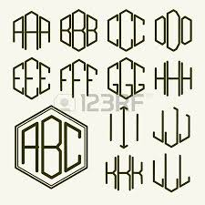 three letter monogram set 2 of templates of letters to create a two letter monogram