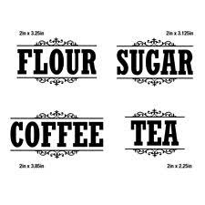 kitchen canister labels canister labels decals stickers vinyl art ebay