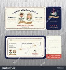 Rsvp On Invitation Card Nautical Ticket Hipster Bride Groom Wedding Stock Vector 324547484