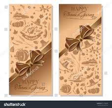 happy thanksgiving vertical banner ribbon thematic stock vector