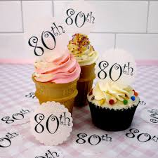 80th birthday cake toppers and decorations