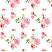 pink and roses pink fabric wallpaper gift wrap spoonflower