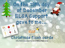christmas flash cards elsa support