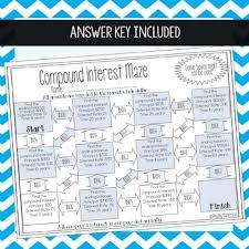 compound interest maze by amazing mathematics teachers pay teachers