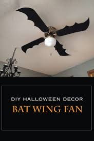 diy halloween decor bat wing fan