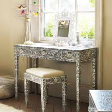 maxi mother of pearl console table and stool dressing tables