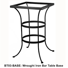 Ow Lee San Cristobal by Ow Lee Standard Wrought Iron Bar Height Table Base Bt03 Base