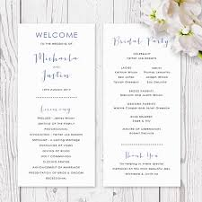 Modern Wedding Programs Wedding Order Of Service Program With Gold And Pink Blush And