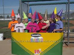 softball player halloween costume coolest crayon girls group costume