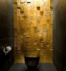 designs ideas glam bathroom with gold tiles wall and twin modern