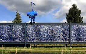 Blue Bottle Chandelier by Recycled Plastic Bottles Inhabitat Green Design Innovation