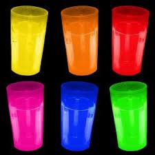 bicchieri fluorescenti bicchieri luminosi fluo festemix