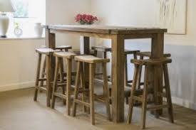 Rustic Bar Table Made Country Rustic Midnight Black Table And Stools