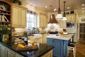 country french kitchens cream color granite countertop white