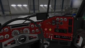 kenworth truck interior kenworth t680 white lux interior american truck simulator mods
