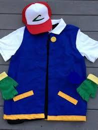 Ash Ketchum Halloween Costume Pokemon Cosplay Ash Ketchum Costume Men U0027s Small 4 Pc Etsy