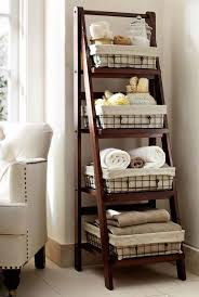 bathroom storage shelves with baskets storage decorations