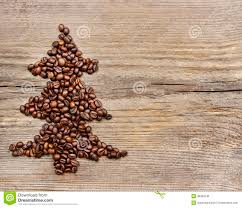 shape of christmas tree made of coffee beans stock photo image