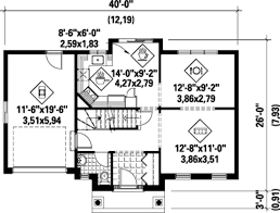 1300 sq ft floor plans colonial style house plan 3 beds 1 00 baths 1300 sq ft plan 25 4786