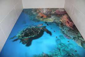 3d ocean floor designs 3d floors turn your bathroom into an ocean bored panda floor