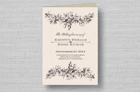 Vintage Wedding Programs Sophisticated Wedding Programs From Marry Moment