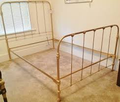 c 1920 antique cast iron gold painted full bed frame full bed