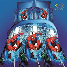 bedding bed picture detailed picture spiderman
