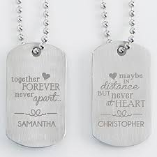 customized dog tag necklace personalized his hers dog tag set