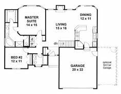 Family Home Plans Aframe Houseplan 99946 Has 1172 Sq Ft Of Total Living Space 2