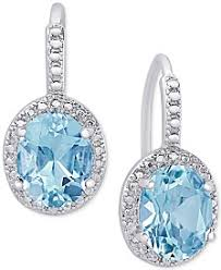 blue topaz earrings shop blue topaz earrings macy s