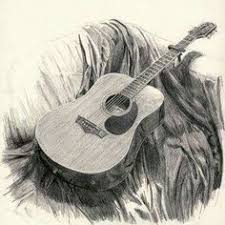 3d pencil sketch guitar wallpapers drawing art library free
