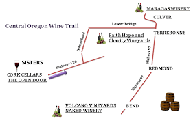 map of oregon wineries maragas winery headlines new wine trail visit central oregon